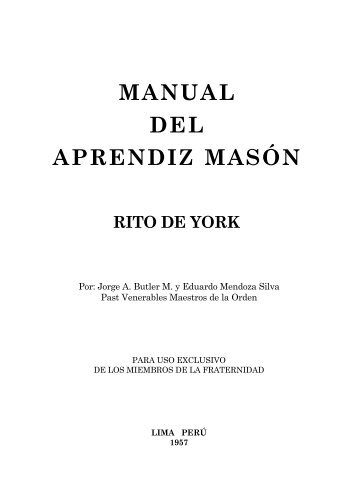 MANUAL DEL APRENDIZ MASÓN