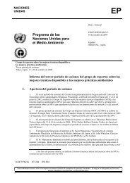 EP Programa de las Naciones Unidas para el Medio Ambiente
