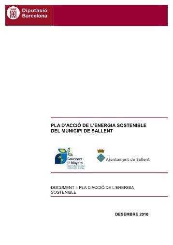 pla d'acció de l'energia sostenible del municipi de sallent