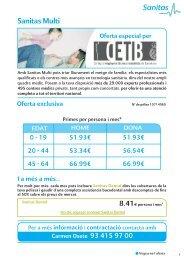 Sanitas Multi - Col·legi d'Enginyers Tècnics Industrials de Barcelona