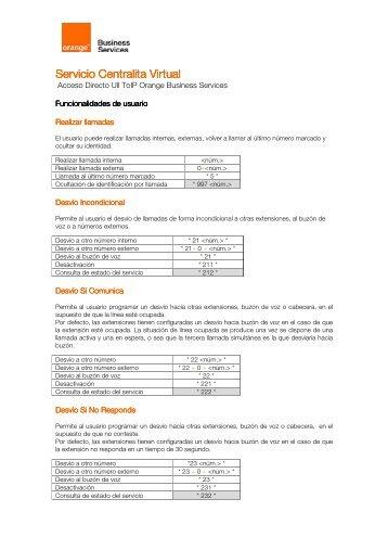 Manual de servicio Centralita Virtual.