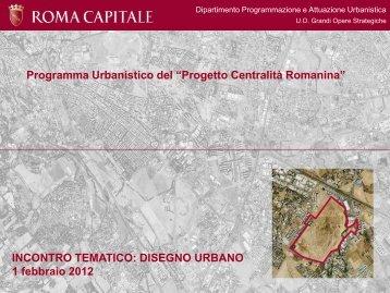 Progetto Centralità Romanina - Quartiere Morena