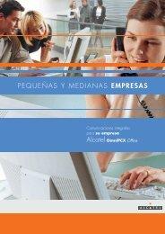 m PEQUEÑAS Y MEDIANAS EMPRESAS Alcatel OmniPCX Office