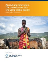 Agricultural Innovation: The United States in a Changing Global Reality