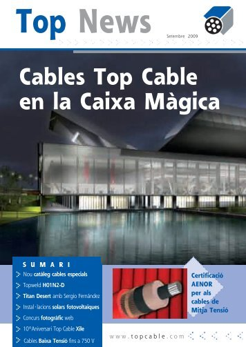 Nou catàleg de cables especials - Top Cable