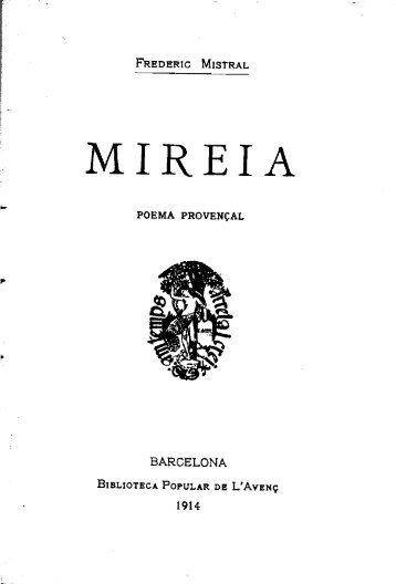 Frederic Mistral, Mireia, traducció de Francesc Pelagi Briz i ...