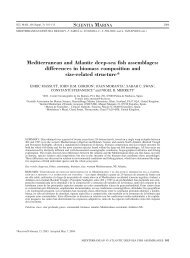 Mediterranean and Atlantic deep-sea fish assemblages: differences ...