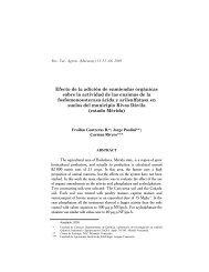 Efecto de la adición de enmiendas orgánicas sobre la actividad de ...