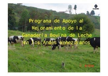 Programa de Apoyo al Mejoramiento de la Ganadería Bovina de ...