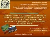 turismo rural sustentable - Facultad Ciencias Forestales y ...