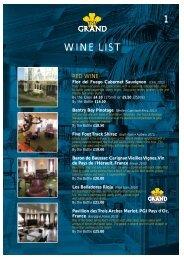 Palm Court Wine list 2012 - The Grand