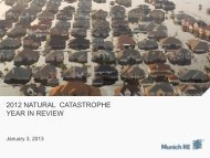 2012 NATURAL CATASTROPHE YEAR IN REVIEW