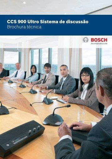 CCS 900 Ultro Sistema de discussão Brochura ... - Bosch worldwide