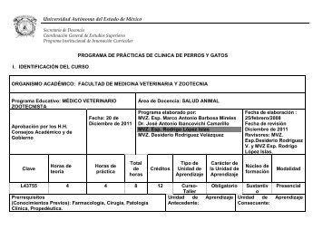 Programa de Estudio por Competencias - Facultad de Medicina ...