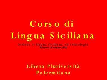 Vocalismo Siciliano - Libera Pluriversità Palermitana