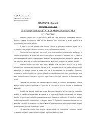 MEDICINA LEGALA SUPORT DE CURS PT STUDENTII ... - UMF