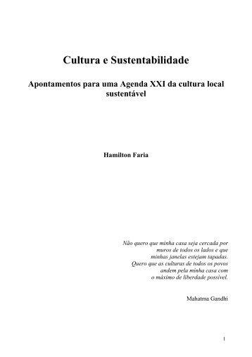 Cultura e Sustentabilidade - Direito à Cidade