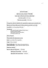 Ata da Reunião de 2006-08-07 - Câmara Municipal do Entroncamento