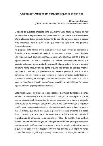 Maria João Brilhante - Conferência Nacional de Educação Artística