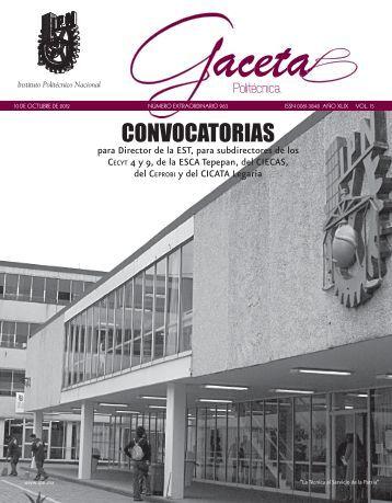 Convocatoria - ESCA Tepepan - Instituto Politécnico Nacional