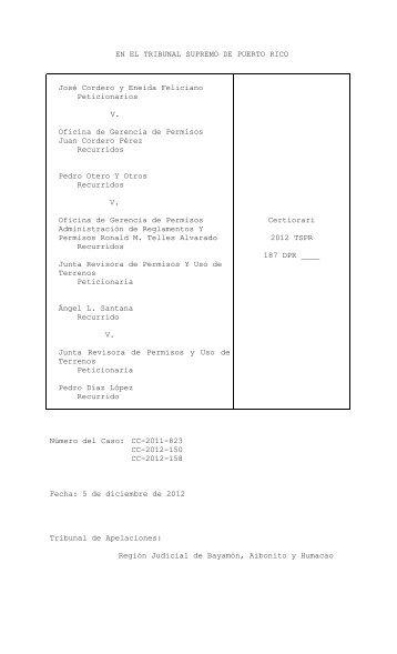 2012 TSPR 181 - Rama Judicial de Puerto Rico