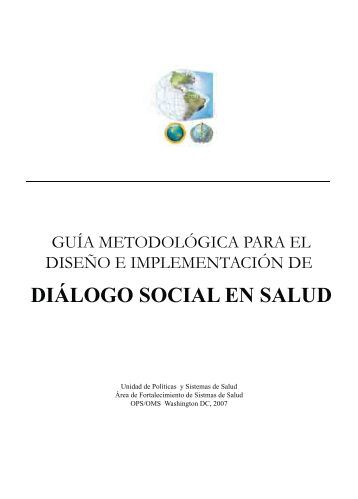 diálogo social en salud - World Health Organization