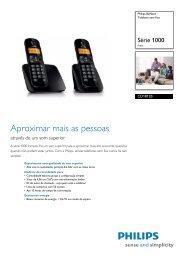 CD1812B/PT Philips Telefone sem fios - Magnavox