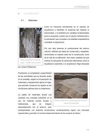 LA PROPUESTA 9. LA PROPUESTA 9.1. Materiales - Cybertesis