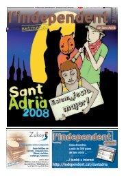 Número 75: 5 de setembre de 2008 - L'independent de Gràcia