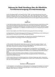 Satzung der Stadt Havelberg über die öffentliche ...