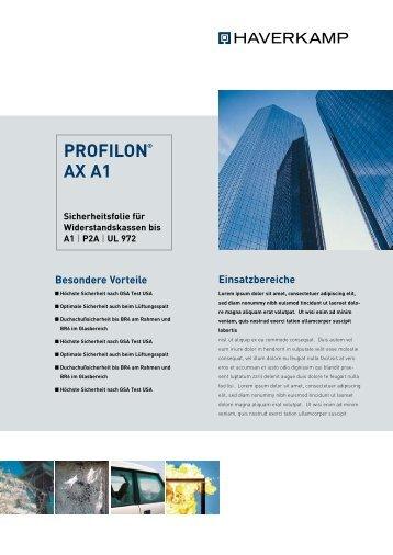 PROFILON AX A1 - HAVERKAMP GmbH