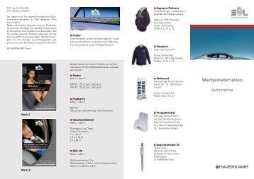 Katalog SL-Werbematerialien