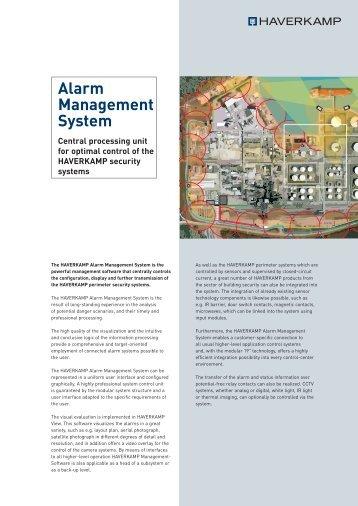 Alarm Management System INT.indd - HAVERKAMP GmbH