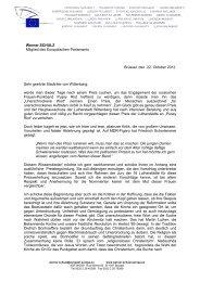 Offener Brief von Werner Schulz - Robert Havemann Gesellschaft