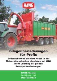 Silageüberladewagen für Profis - HAWE Wester