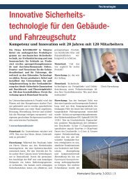 Interview mit der Firma Homeland Security