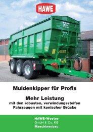 Mehr Leistung Muldenkipper für Profis - HAWE Wester