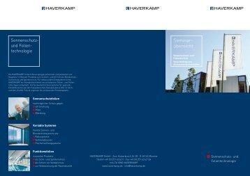 Seminar- übersicht - HAVERKAMP GmbH