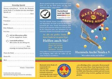 PDF-Datei Prospekt - Hazienda Arche Noah