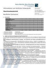 Maschinenbautechnik - Informationsabend des Beruflichen ...