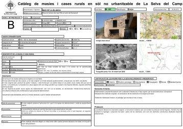 Catàleg de masies i cases rurals en sòl no urbanitzable de La Selva ...