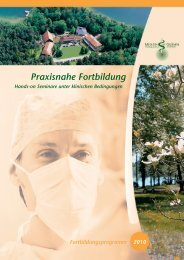 Praxisnahe Fortbildung - Medizin im Grünen