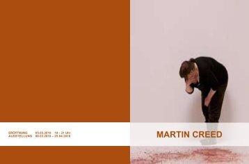 MARTIN CREED (pdf) - Heidelberger Kunstverein