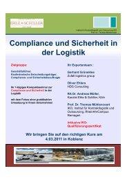 Compliance und Sicherheit in der Logistik - HDS Consulting