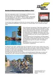 Bericht Frühjahrstrainingslager Mallorca 2012 - 1. RV Stuttgardia