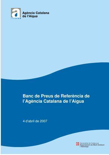 Banc de Preus de Referència de l'Agència Catalana de l'Aigua