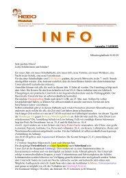 Info 3 (Schuljahr 08/09) - Hebo Privatschule