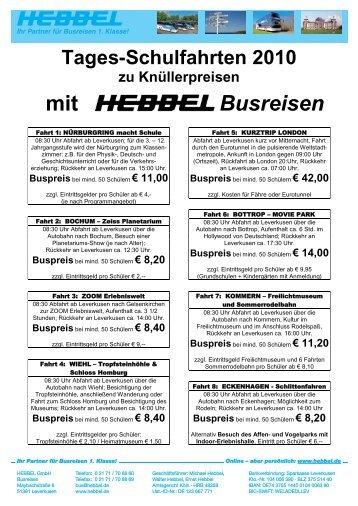 mit Busreisen - Reisebüro HEBBEL.de