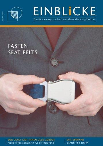 Fasten Seat Belts als PDF lesen - Unternehmensberatung Heckner
