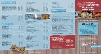 und Eisgetränke - Aal- + Forellenräucherei Hoffmann